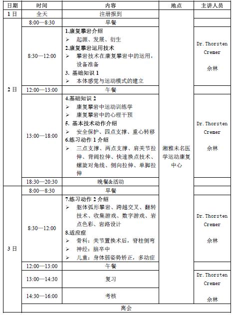 中国mtt康复攀岩培训认证课程